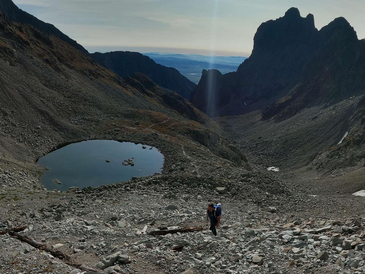 Výstup na Malý Ľadový štít s horským sprievodcom, druhý najvy...