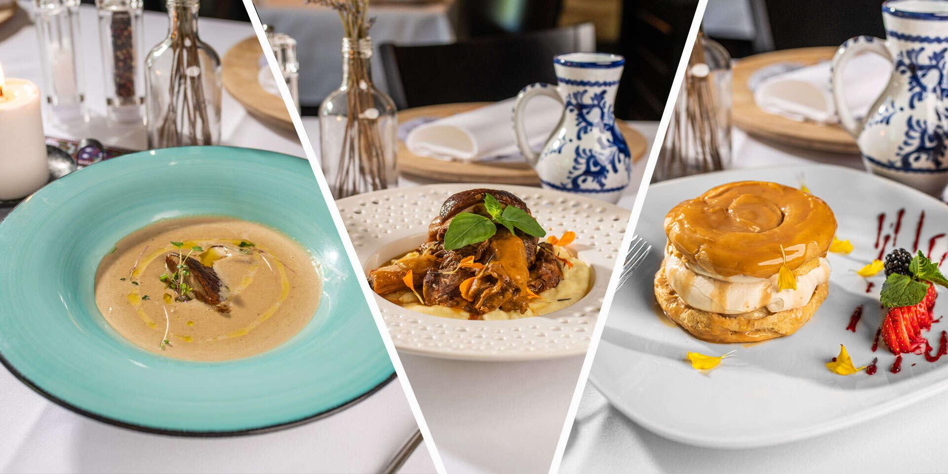 Obľúbené 3-chodové menu v reštaurácii Leberfinger na nábreží Dunaja