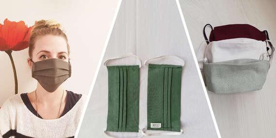 Veľké rodinné balenie textilných rúšok zo špeciálnej chirurgickej bavlny – testované priamo zdravotníkmi/Žilina