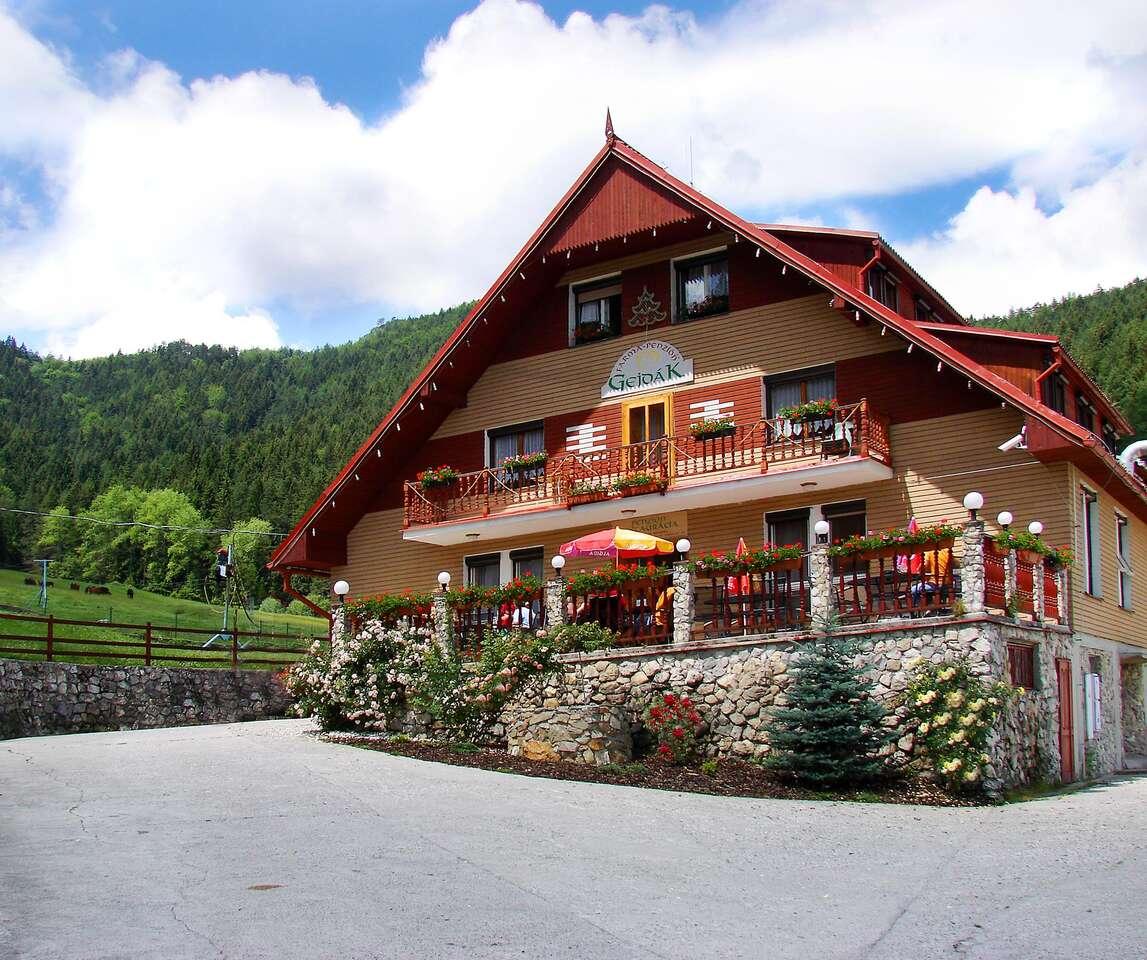 Oddych v panenskej prírode s polpenziou, bazénom a wellness-om v Horskom hoteli Gejdák*** s mini farmou