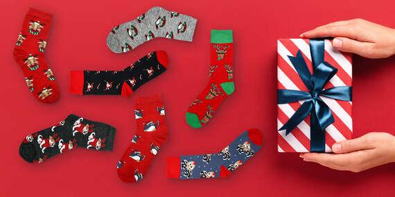 Veselé ponožky so zimnými motívmi – balenie 1 alebo 3 párov/Slovensko