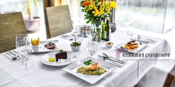 Darujte gastronomický zážitok - poukážku do Restaurant Parlament s nádherným výhľadom na Bratislavu/Bratislava – Staré Mesto