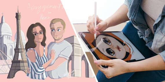 Digitálna ilustrácia portrétov z vašich fotiek/Slovensko