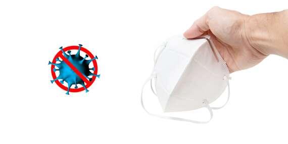 Antivirový respirátor s filtrační třídou KN95 zachycující více než 95% virů/ČR