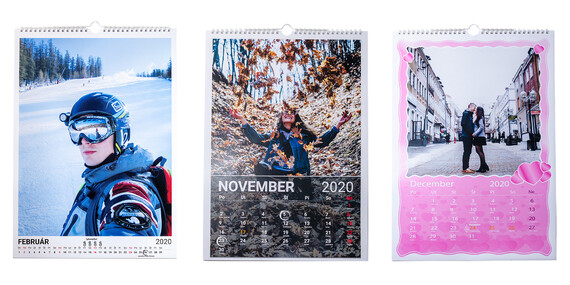 Stolový alebo nástenný fotokalendár s vašimi vlastnými fotografiami a v prvotriednej kvalite/Slovensko