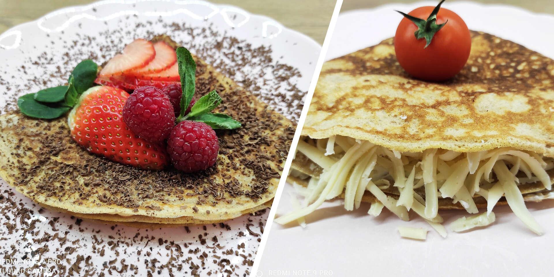 Sladké a slané fitness palacinky: s light džemom, špenátom, syrom či lososom