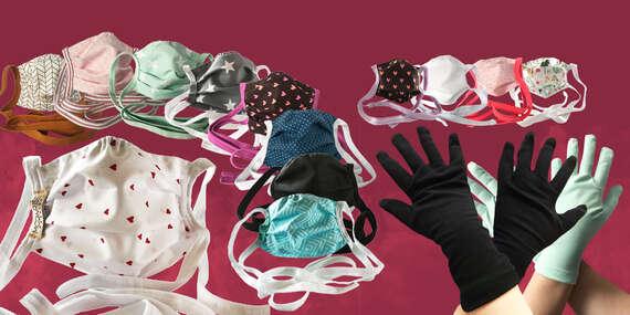 Vyrobené na Slovensku v limitovanom počte: kvalitné bavlnené rúška a rukavice (aj pre deti)/Slovensko