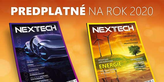 Ročné online predplatné magazínu NEXTECH na rok 2020 + darčeky k predplatnému/Slovensko