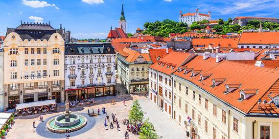 Romantika s panoramatickým výhľadom na Bratislavu a súkromným vstupom do wellness v hoteli Modena***/Bratislava - Vlčie Hrdlo - Ružinov