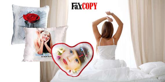 Mäkkučké vankúše s vlastnou fotografiou s osobným odberom až v 40 predajniach FaxCOPY zdarma/Slovensko
