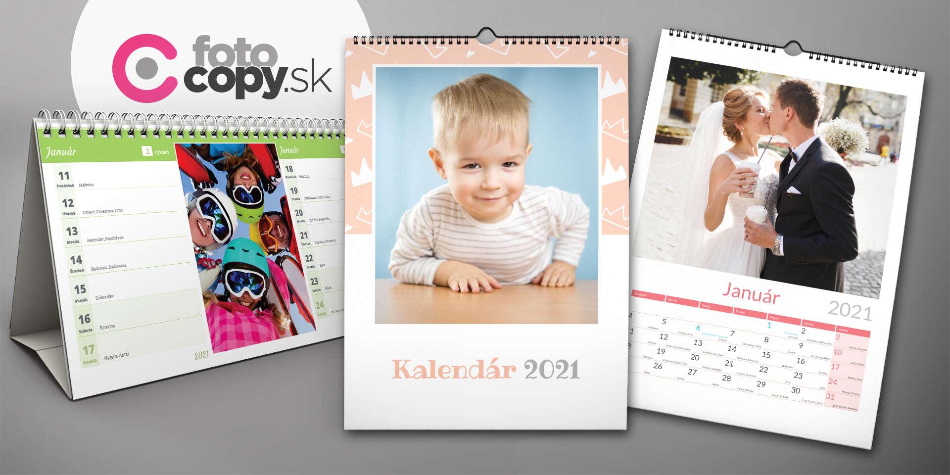 Nástenné a stolové kalendáre 2021 - najkrajšie spomienky po celý rok!