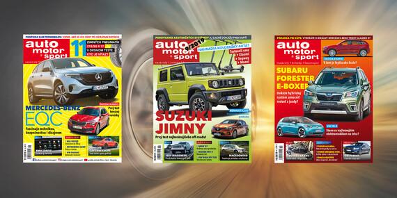 Predplatné časopisu Auto Motor a Šport - 12 alebo 6 časopisov / Slovensko