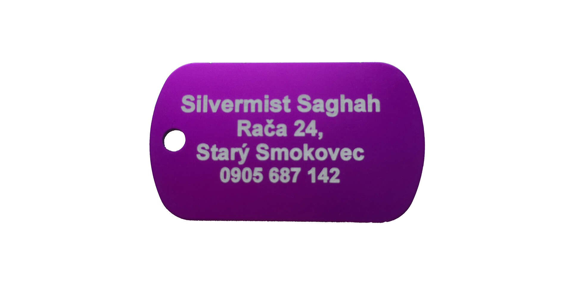 Gravírované obojky alebo hliníkové známky s osobným odberom ZAD...