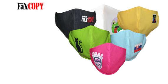Bavlnené rúško s vašou fotografiou biele alebo množstvo farieb na výber, osobný odber až v 40 predajniach FaxCOPY zdarma/Slovensko