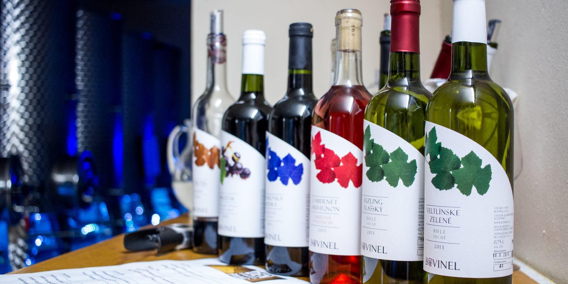 Degustácia vín v rodinnom vinárstve BOVINEL