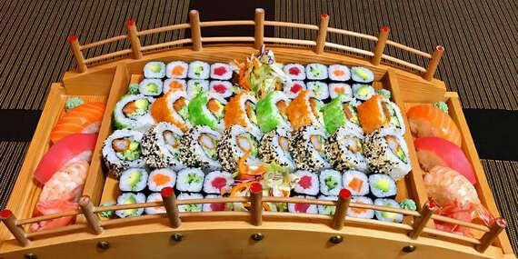 Vynikající sushi menu až se 72 kousky z restaurace Kyoto sushi Vysočany/Praha