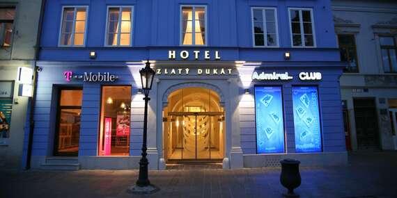 Zlatý Dukát****: Historický hotel v centre, ktorý bol súčasťou kráľovského domu/Košice - Staré mesto