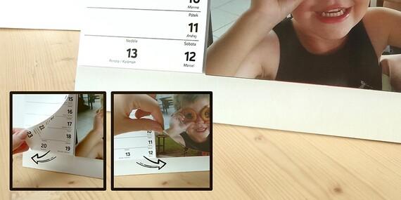 Stolní nebo nástěnný fotokalendář z vlastních fotografií v kroužkové kovové vazbě. Při koupi 5 kalendářů poštovné zdarma!/ČR