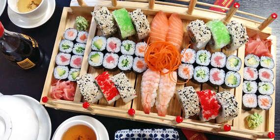 Vynikající sushi menu až se 72 kousky z restaurace Kyoto – Sajado Wok & Sushi v pražských Vršovicích/Praha