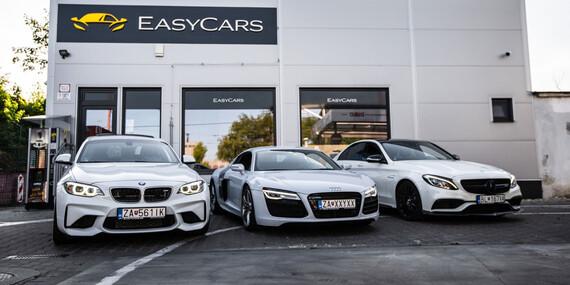 Prenájom exkluzívnych športových aut v Easycars / Bratislava - Rača