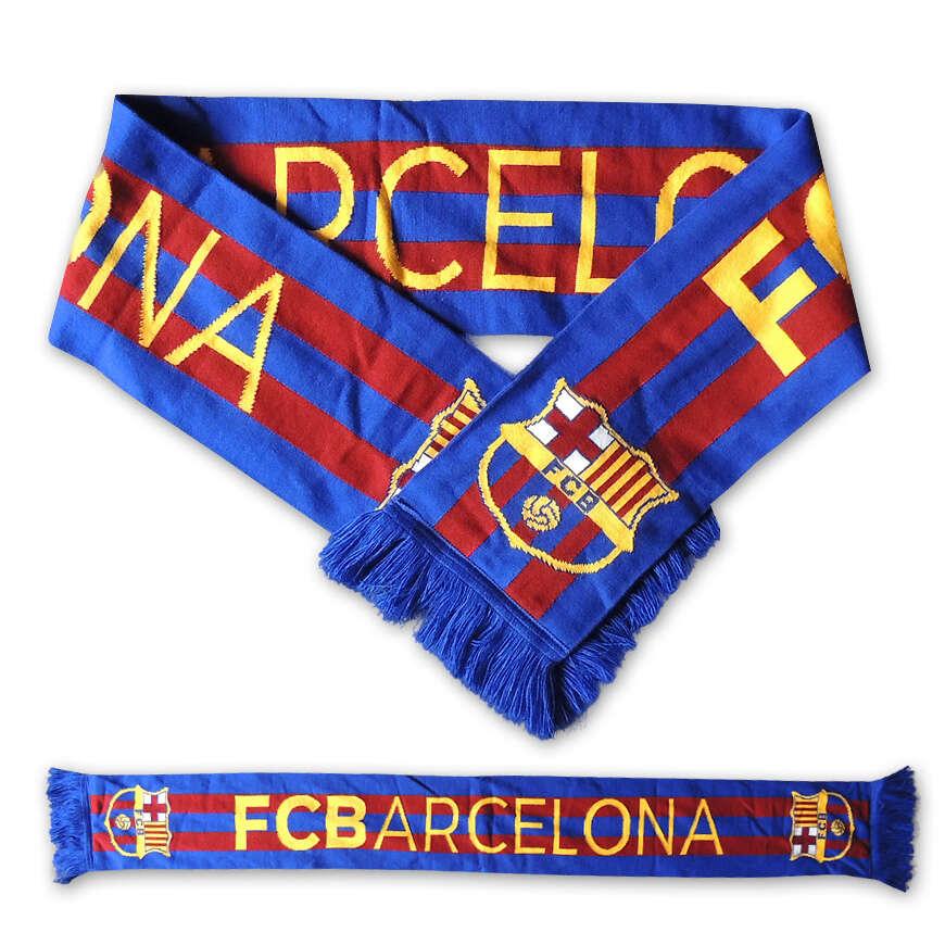 Originálne futbalové šály FC Barcelona, FC Liverpool a ďalších...