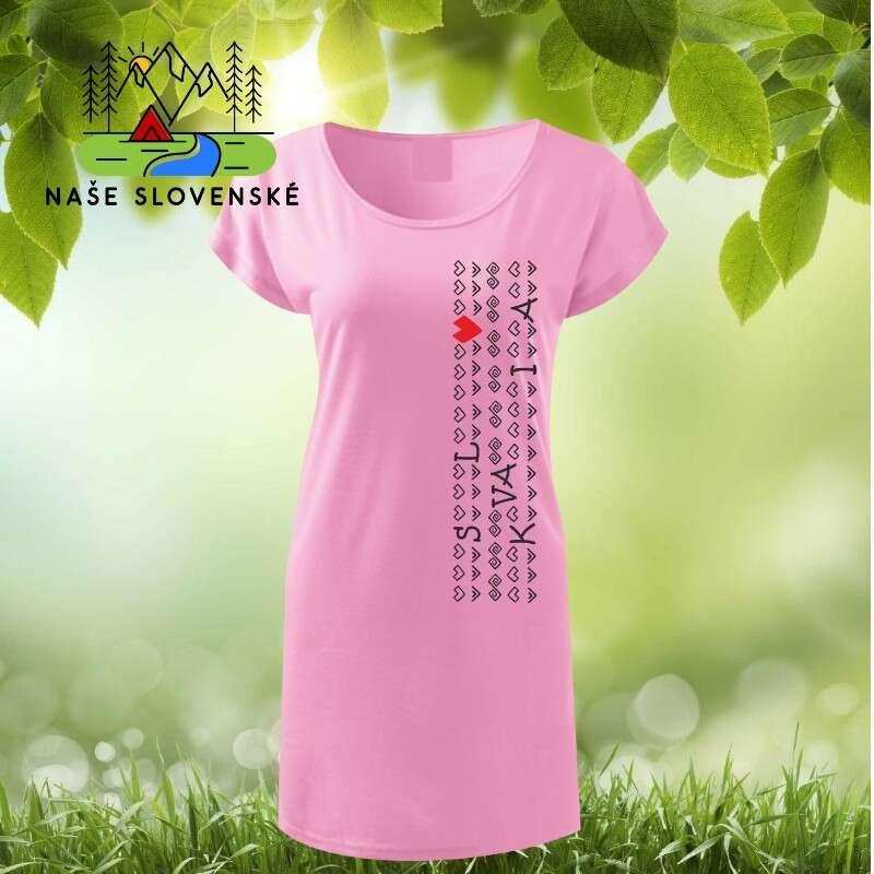 Dámske tričko-šaty s lodičkovým výstrihom