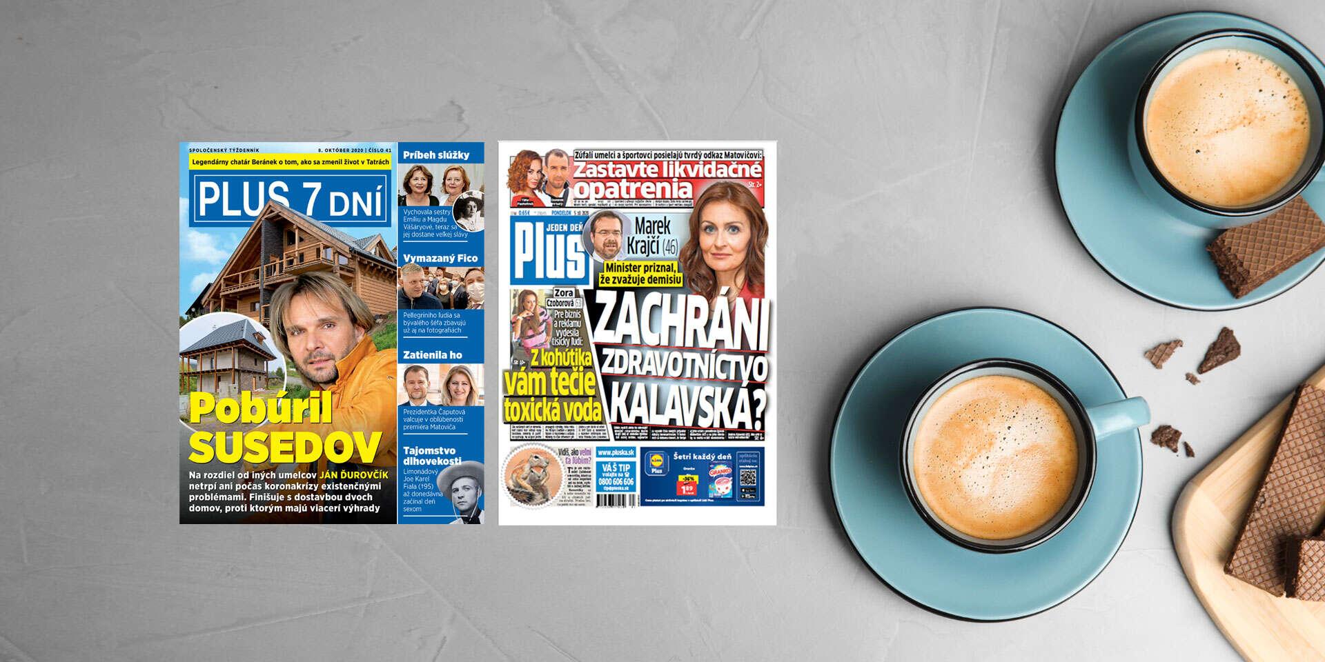 Ročné predplatné najčítanejšieho týždenníka na Slovensku PLUS 7 DNÍ a denníka Plus JEDEN DEŇ