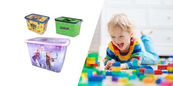 Rozprávkové úložné boxy pre deti: Frozen, Minecraft, Paw Patrol/Slovensko