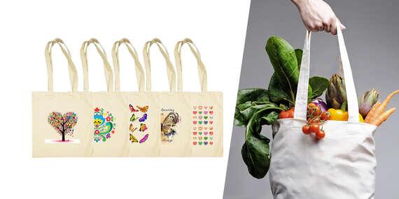 Bavlnená taška s vlastnou potlačou, vrátane poštovného/Slovensko