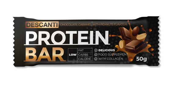 Proteínové tyčinky s nízkym obsahom cukru, obohatené o kolagén, bez lepku a bez palmového oleja/Slovensko
