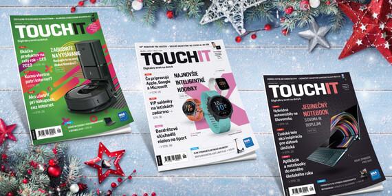 Ročné predplatné časopisu TOUCHIT + Xiaomi reproduktor či powerbanka ako darček/Slovensko