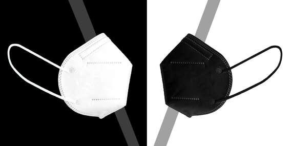 Respirátory FFP2 aj v čiernej farbe – najpredávanejší model dodávateľa/Slovensko