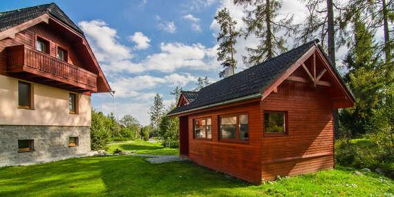 Atmosféra lesa, jen kousek od Studeného potoka ve Ville Domino / Vysoké Tatry - Tatranská Lomnica