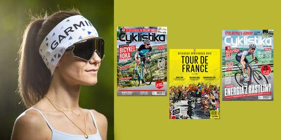 Dvojročné predplatnému časopisu Cyklistika + oficiálny sprievodca Tour de France + funkčná čelenka Garmin/Slovensko