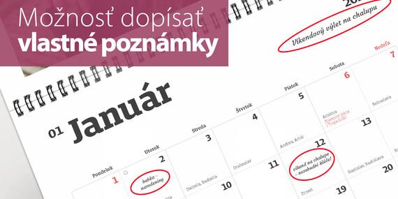 Exkluzívny dvojdielny fotokalendár s veľkými fotografiami/Slovensko