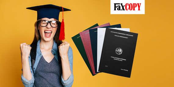 Viazanie diplomových a bakalárskych prác s osobným odberom ZADARMO až v 40 predajniach FaxCOPY/Slovensko