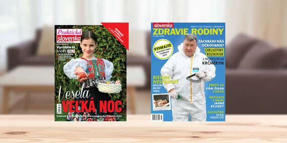 Ročné predplatné mesačníka Praktická Slovenka alebo Slovenka zdravie rodiny/Slovensko