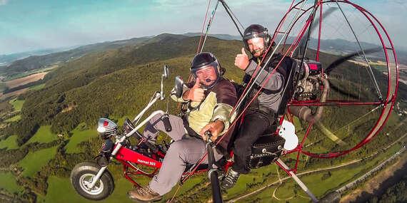 Neopakovateľný zážitok - vyhliadkový let s Air chopprom, motorový tandemový paragliding/Trenčín