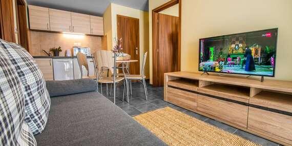 Nové rodinné apartmány Sojka resortu na Liptove pre 4 osoby/Liptov – Malatíny