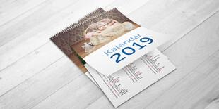 Kalendár A4/A3 na šírku, 5-listový vrátane obálky