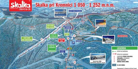 Celodenný skipas do strediska Skalka arena, Kremnica/Kremnica