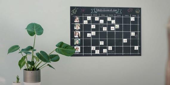 Fotokalendáre alebo rodinný personalizovaný plánovač domácich prác s poštovným v cene/Slovensko