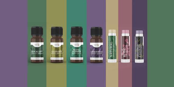 100 % prírodné balzamy na pery a čisté esenciálne oleje Aroma Clinics/Česká republika