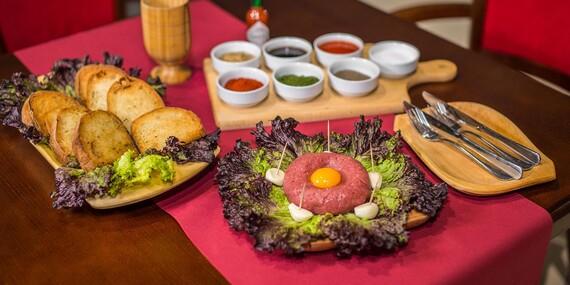 Tatarák a 10 hrianok v Reštaurácii Rotoska - Slovenské špeciality / Bratislava – Nové Mesto, Rača
