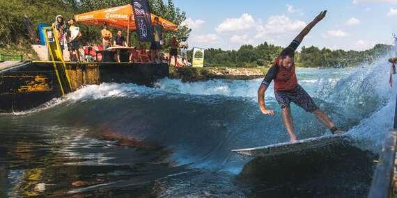 PRVÝKRÁT V PONUKE: Unikátny surfing priamo na Slovensku alebo jazda vodným skútrom po Dunaji / Čunovo - Areál Divoká Voda