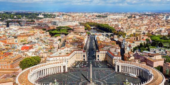 5-dňový letecký zájazd do Ríma z Bratislavy s ubytovaním, raňajkami a službami sprievodcu/Rím - Taliansko