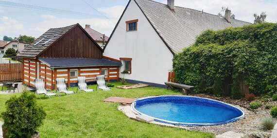 Dokonalý relax na Vysočině s vířivkou a saunou v pronajaté chalupě Sofie s plně vybavenou kuchyní a platností až do prosince 2021/Vysočina