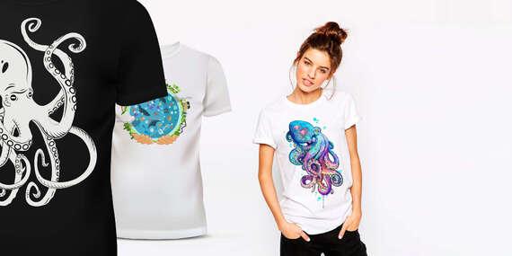Prémiové pánske alebo dámske tričko Adler s vlastnou potlačou vrátane poštovného/Slovensko