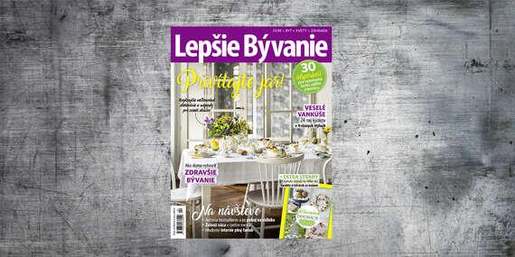Ročné predplatné časopisu LEPŠIE BÝVANIE/Slovensko