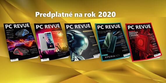 Ročné online predplatné magazínu PC Revue na rok 2020 + darčeky k predplatnému / Slovensko
